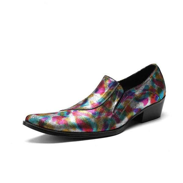 Новое Прибытие Роскошные Мужчины Платье Обувь Мода Дизайнер Острым Носом Досуг Кожаные Ботинки Человек Свадьба Обувь Для События 46