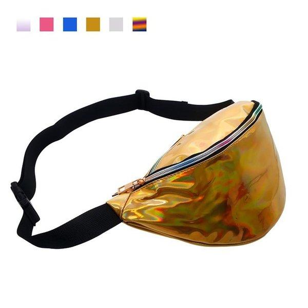 golden pu waist bag
