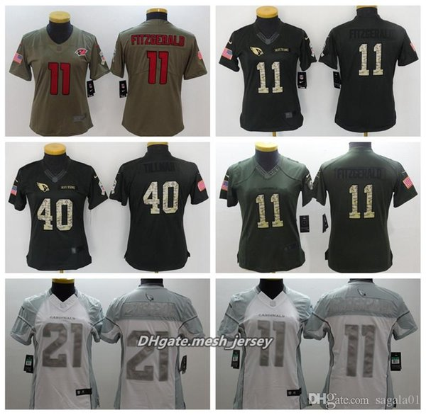 newest collection b3c33 2fd1c 2019 Women Arizona American Football Cardinals Jersey 11 Larry Fitzgerald  40 Pat Tillman 21 Patrick Peterson Color Rush Stitching Jerseys From Bb792,  ...
