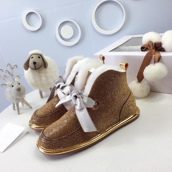 2020 designer australia boots for women classic ankle short bow fur boot snow winter triple black chestnut fashion women shoes mf19102801