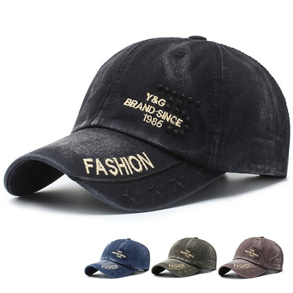 Unisex High Quality Washed Cotton Letter Embroidered Solid Color Adjustable Cap Couple Hats Fashion gift HAT Snapback Caps