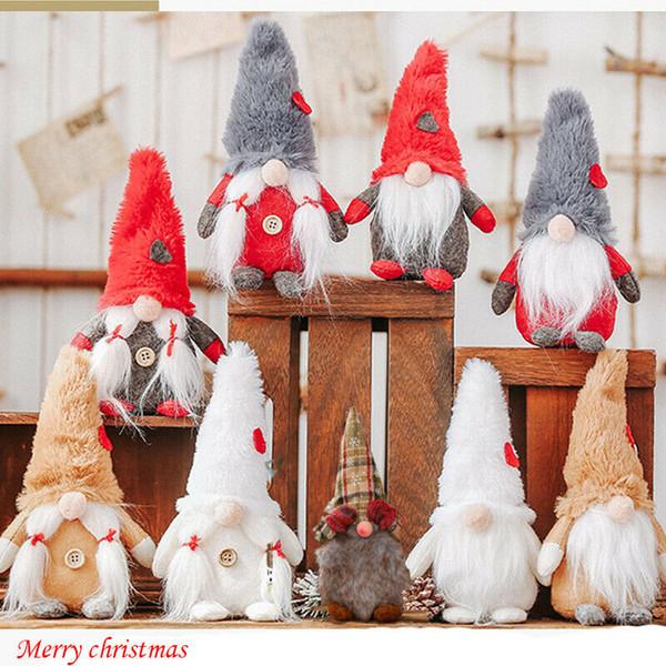 1PC Yılbaşı Ürünler Noel Baba Noel Doll Ev Dekorasyon Noeller Çocuklar Hediye Kumaş Oyuncak Noel Masa Dekor Süsleme