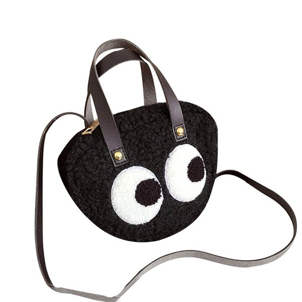 Fashion Women Tide Cartoon Big Eye Pattern Personality Crossbody bag Ladies Satchel Tote Strap Wild Bags Shoulder Messenger Bag
