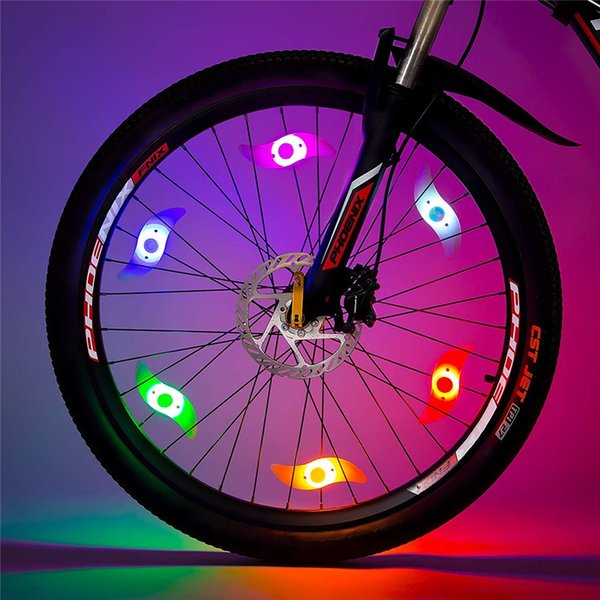 Bike Spoke Light 6PCS Bike Wheel Light Tyre Wire Safety Alarm Wheel Lights Custom Message Cycle Motor