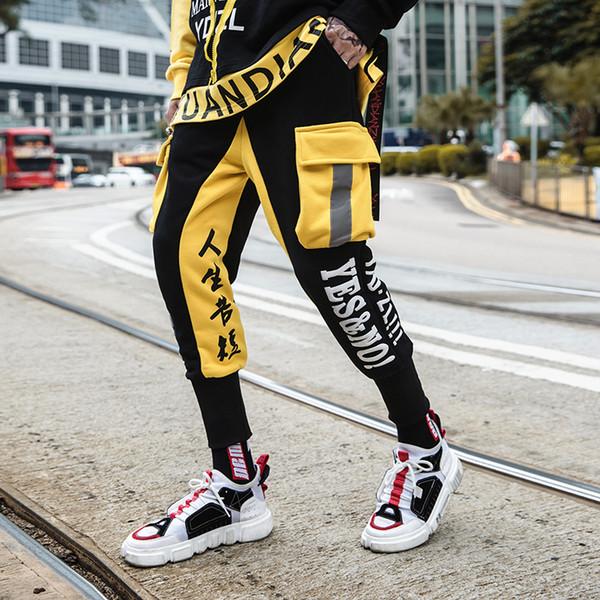Pantaloni hip-hop della rappezzatura della stampa della lettera della Cina Pantaloni sportivi d'impionbatura di inverno di modo Pantaloni Dimensione degli Stati Uniti
