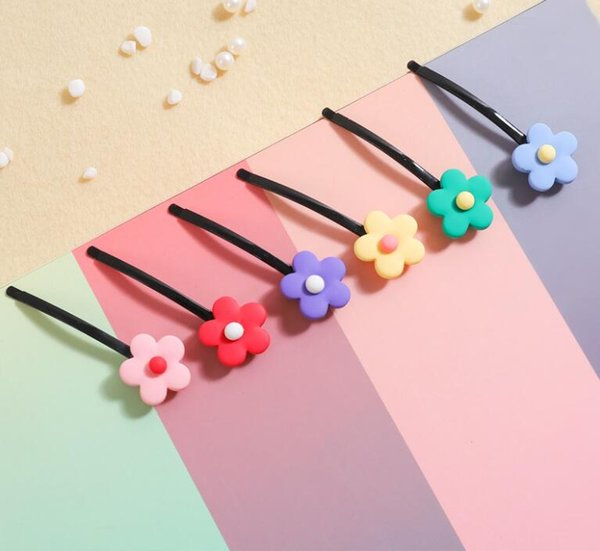 Colorful Flower Bobby Pin Hairpin Cute Hair Clips For Babies Girls and Women Hair Accessories Styling Decor Headwear