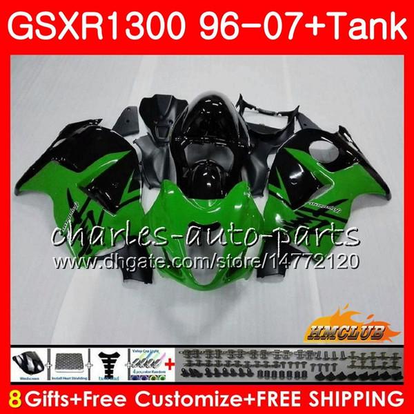 Body For SUZUKI Hayabusa GSXR 1300 GSXR1300 96 97 98 99 00 01 07 green black 24HC.29 GSX R1300 1996 1997 1998 1999 2000 2001 2007 Fairing
