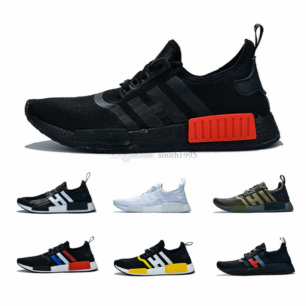 36-47 Cheap Military Green R1 Cheap Atmos Bred Running Shoes Tri-Color OG Classic Men Women Red Marble Thunder Sports Trainer Sneakers 36-45