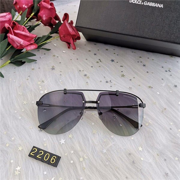 Fashion Designer Sunglasses Luxury Sunglasses Rimless Glass for Womens And Men Adumbral Glasses UV400 Model C0005 High Quality With Box