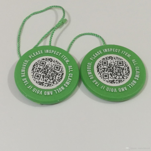 New Stock X Tag With QR Code Sticker x Card Green Round Tag Plastic For Verified Authentic Shoes