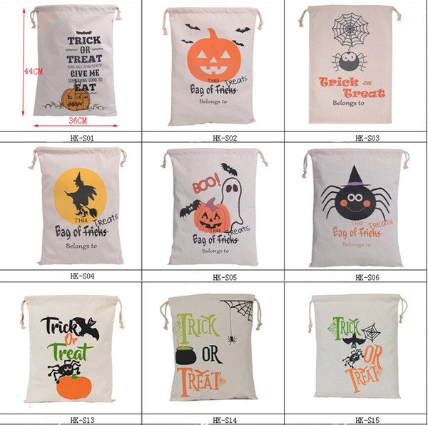 best selling 36*44cm Halloween Candy Bag Pumpkin Head Gift Bag Cotton Beam Gift Large Capacity Halloween Decorations Canvas Bag