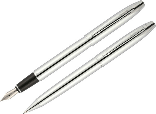 Scrikss 35 Chrome Ballpoint Fountain Pen Set HB-002595151