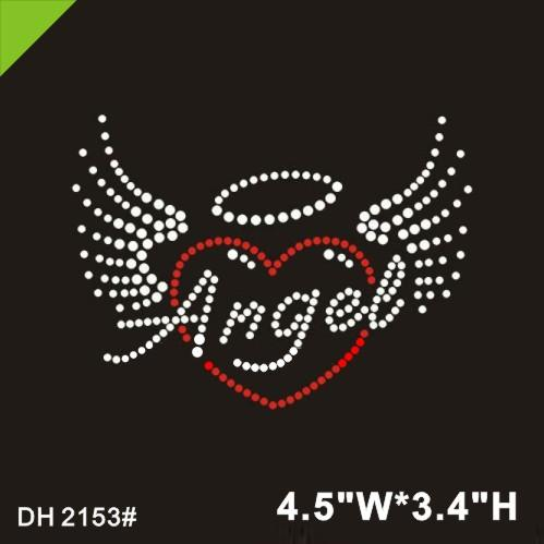 Free shipping Custom Crystal Transfers in Angel Design For T-Shirt DIY DH2153#
