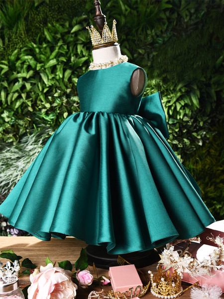 top elbisesi Dantel Tutu Abiye doğum günü partisi yarışması Elbise ile 2019 Vintage Çiçek Kız Elbise Fildişi Bebek Bebek Yürüyor Vaftiz Elbise