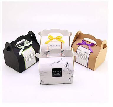 Portátil Lidar Com Padaria Caixas De Bolo Rato Cookies Pastry Embalagem Caixas mix estilo Frete Grátis Por Atacado