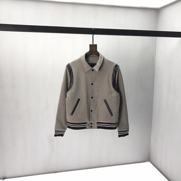 2019 nuevos hombres de invierno de la chaqueta de botones de cuero grueso del paño grueso y suave caliente Mágicas hombres capa de la chaqueta de Sportwear masculino Streetwear hombres de la chaqueta de invierno