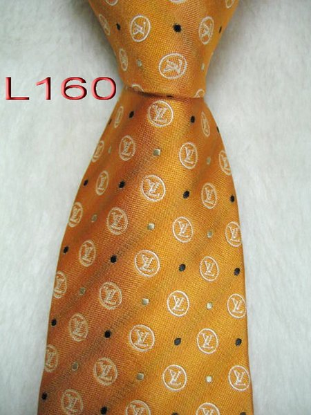 L160 # 100% Шелковый жаккардовый плетеный мужской галстук ручной работы