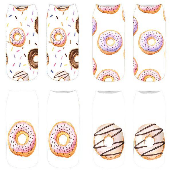 Wholesale 10 Pairs New 3D Food Printed Women Socks Cute Pattern Short Sock Funny Low Ankle Cotton Socks