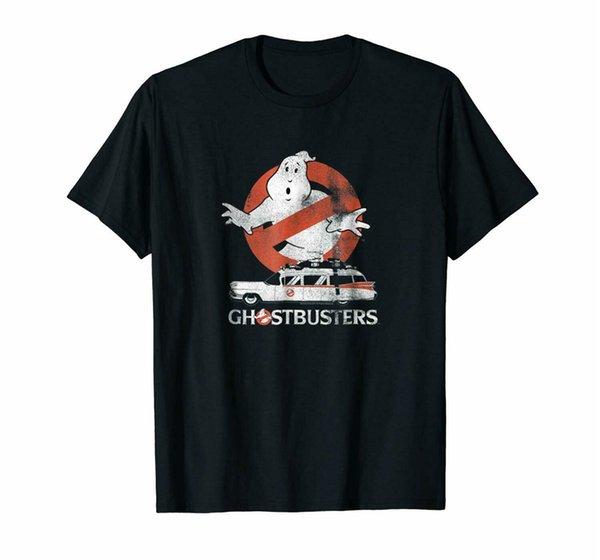 Schwarz Ghostbusters Kein Geist mit Ecto Vector T-Shirt US-Herren-Trend 2019 Graphictee Hemd