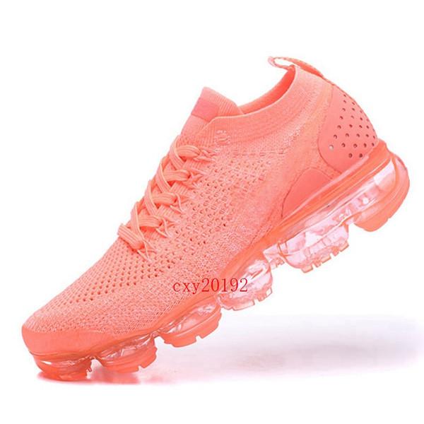 2019 Estate New Style Nike Air VaporMax 2.0 Fly Running Desiger Scarpe da donna Corsetti a maglia Escursioni da jogging Walking Scarpe da ginnastica per donna