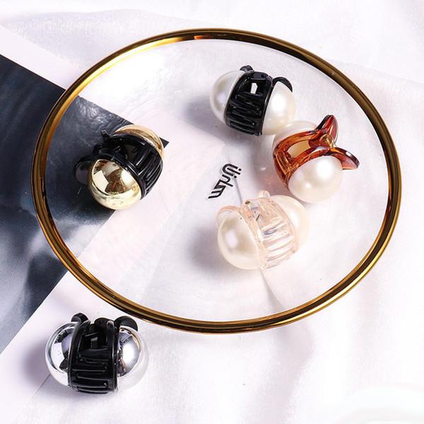 20pcs donne moda perla mini ponytail titolare capelli clip artiglio bella bun maker signore strumento di styling