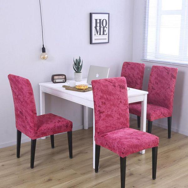 Spandex Stuhlabdeckung Stretch Elastic Dining Sitzbezug für Bankett Hochzeit Restaurant Hotel Anti-schmutzig abnehmbare Stuhlhussen