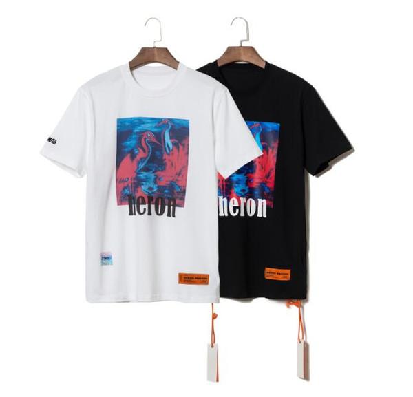 Heron Preston Mens Designer T Shirts Männer Frauen Straße Luxus Baumwolle Designer Shirt Lässige Kran Print Kurzarm T-shirt 53