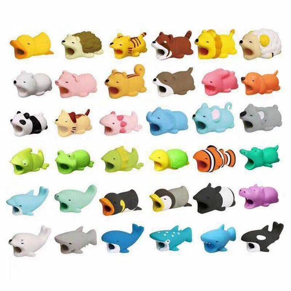 Cable Bite Protector pour Iphone Samsung Squishy Lapin Squishy Doux Mignon Chat Fun Jouets Décoration De Chien 36 styles RRA43
