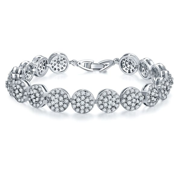 Bracelet Chain Luxury Women Men Bracelets Fashion Roman Crystal Bracelets 925 Sterling Silver Bangles Gifts Accessories Jewelry