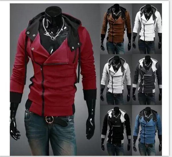Homme Manteau Costume Cosplay pour assassins Veste Cool élégante manteau à capuche