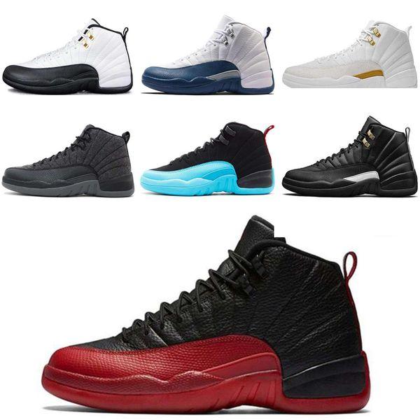 Wildleder Designer Großhandel Basketball Frauen Grippe Rot Air Männer Blau Spiel 12 12s CNY Weiß Taxi Nike Schuhe Jordan Gym OVO Schuhe 12 Dunkelgrau QeCxBordW