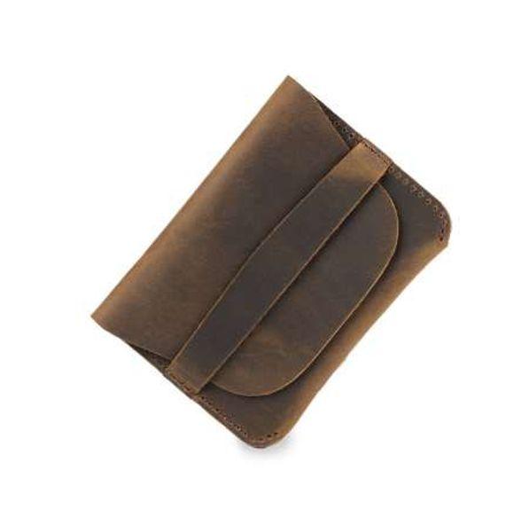 Großhandel Moterm 100 Echtes Leder Kredit Id Kartenhalter Vintage Visitenkartenhalter Retro Männliche Münzen Geldbörsen Brieftaschen Freies
