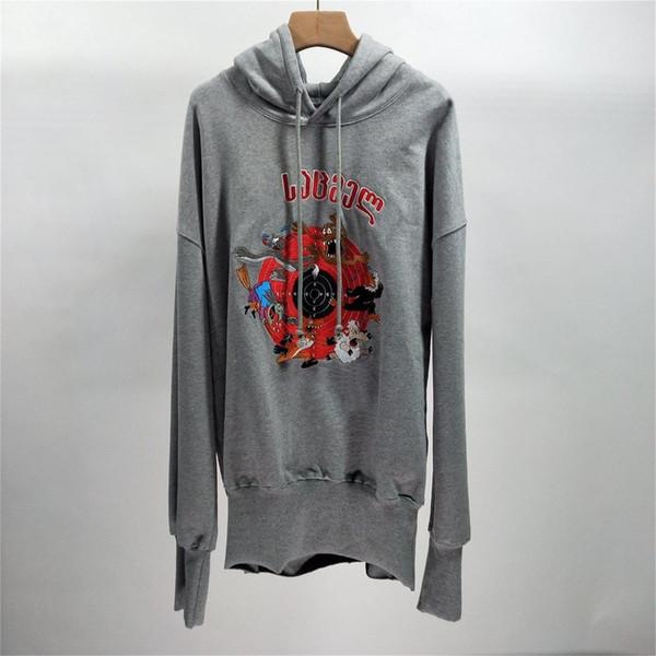 Designer d'autunno con cappuccio Felpe maniche lunghe ricamo vestiti caldi con cappuccio Pullover Top grigio casual Felpa / / nero rosso con cappuccio