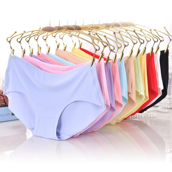 Fashion Panties Briefs For Women Seamless Briefs Ultra-thin Underwear Sexy G-String Mid-rise Comfortable Panty Lingerie #C
