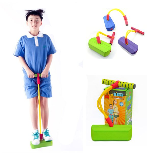 Fun Safe Play Foam Pogo Jumper junmping stilts bounce shoes Encourages an Active Lifestyle Makes Squeaky Sounds kids adult toy