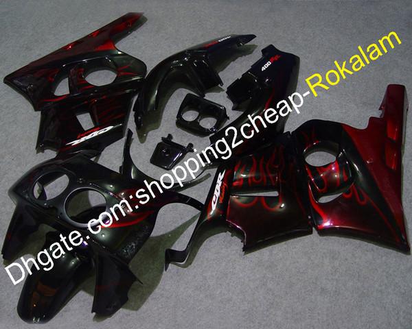 Kit de carrocería para Honda CBR400RR NC29 1990-1998 400RR CBR400 RR 400RR 90 91 92 93 94 95 96 97 98 Carenado de llama roja