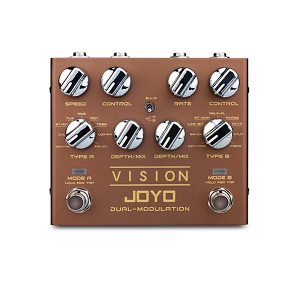 JOYO R-09 VISION Elektrik Gitar Efekt Pedal İşlemci Çift Kanal Modülasyonu Dijital Pedal Etkileri Stereo solak gitar