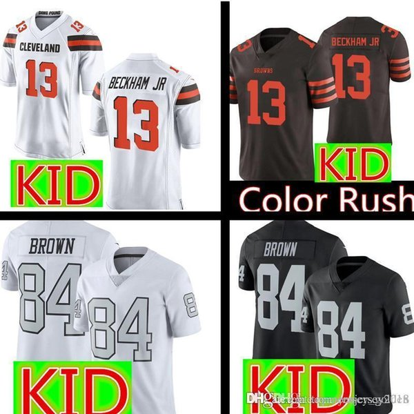sale retailer 5abd6 bcc4d 2019 Youth 13 Odell Beckham Jr Cleveland Kids Browns Jersey Youth Kids  Oakland 84 Antonio Brown Raiders Football Jerseys S XL From  Topmensjersey2018, ...