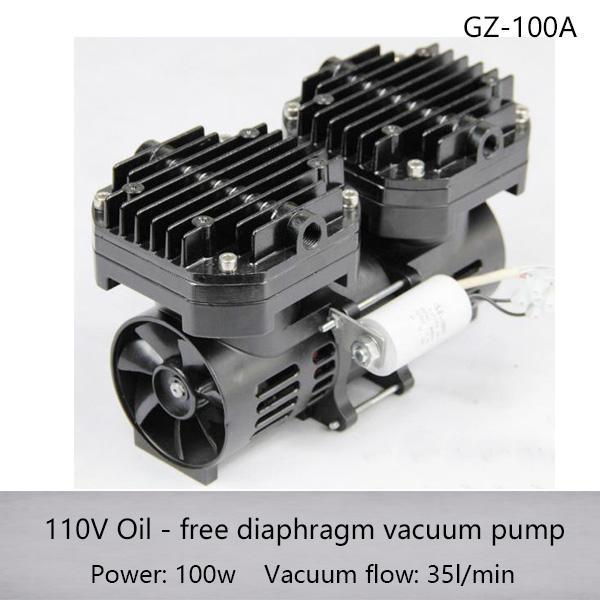 Pompe de vide à diaphragme à usage spécifique à CA pour autoclave GZ-100A 110v / 220v 100w avec un débit de 70L / min