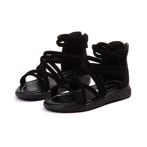 Girls Gladiator Sandals Shoes Summer Style Kids Fashion Roman Sandals Toddler Children High Quality Shoes Size 26-36