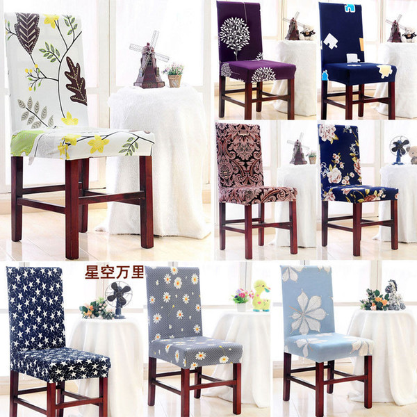 Spandex Stretch Wedding Banquet Chair Cover Slipcover Party Decor Dining Room Print Endurable Elegant Seat Cover Party Decors
