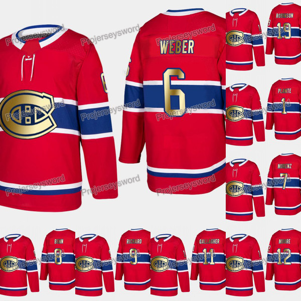 new arrival 2ff79 7d5cf 2019 Montreal Canadiens Shea Weber 2019 Gold Limited Jersey Doug Harvey  Howie Morenz Jordie Benn Maurice Richard Brendan Gallagher Hockey Jerseys  From ...