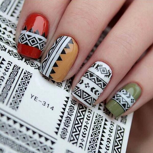 25pcs Moda Adesivo per unghie Adesivo per trasferimento Adesivo Tutto per Manicure Decorazioni unghie artistiche Adesivi per le unghie