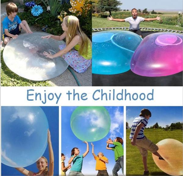 Increíble Wubble Bubble Ball Juguete divertido lleno de agua TPR inflable globos de agua para niños adultos al aire libre juguetes de verano decoraciones del partido A6505