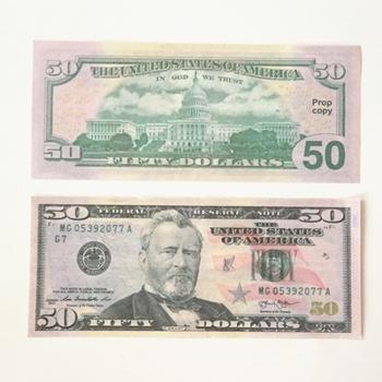 50 dólares 100pcs