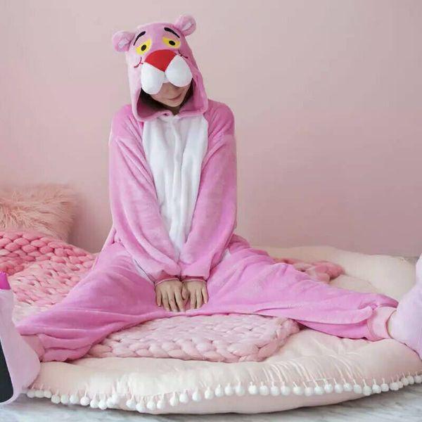 Yetişkin Onesie Kadın Pijama Hayvan Pijama Kigurumi Pijama Kış Pijama Onepiece Gece MC5099 Sıcak Giymek Suits