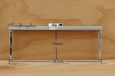 monedero de metal marco pegamento en el clip de cierre de níquel 7 1/4 pulgada X 2 3/4 pulgada B31