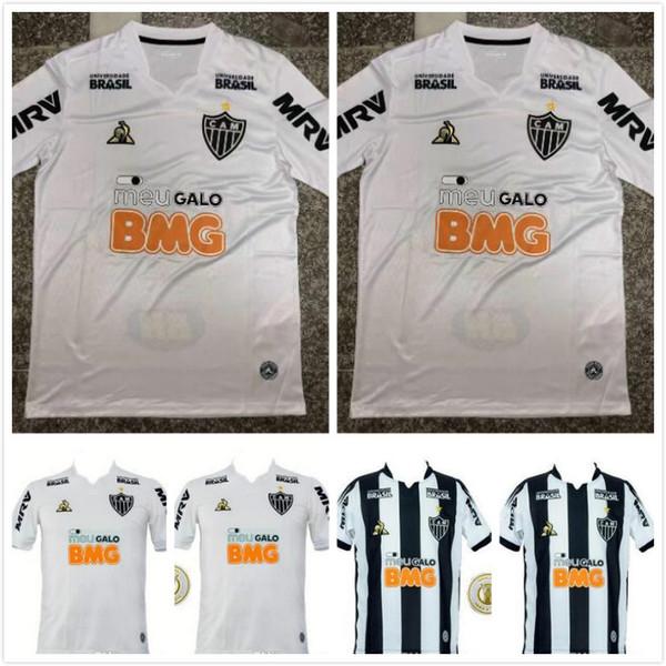 Camisetas de fútbol del Atlético Mineiro 19 20 Fred Cazares Otero Moura Elias Robinho Valdivia Adilson Santos Custom Black White 2019 Camiseta de fútbol