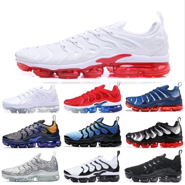 reliable quality buying now 100% quality Compre Nike Air VaporMax AIR TN La Piel Del Tigre De La Moda Del Arco Iris  Serie Zapatillas Deportivas Para Hombres Mujeres Plata Oro Naranja ...