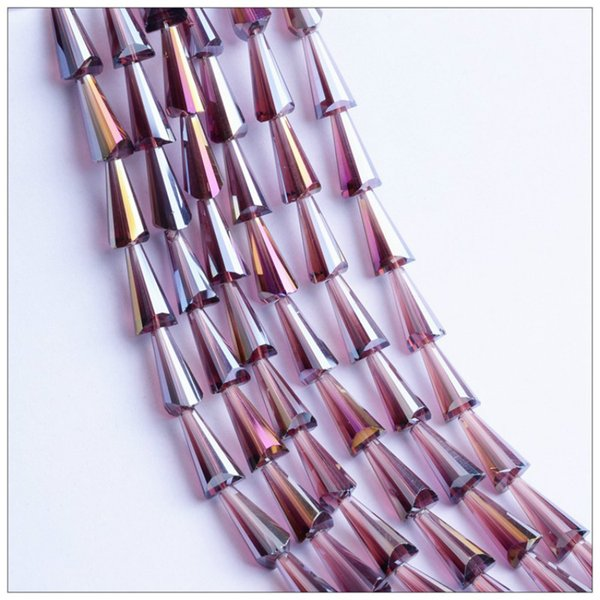 light purple-3x6mm-98beads
